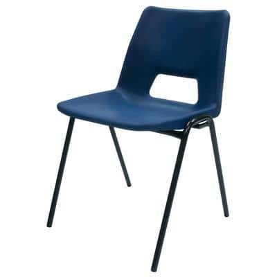 Advanced Furniture Stacking Chair Harmony Plastic Blue 4 Pieces