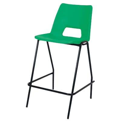 Advanced Furniture Counter Stool Harmony Plastic Green 4 Pieces