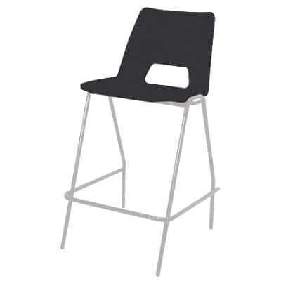 Advanced Furniture Counter Stool with White Frame Harmony Black Pack of 4
