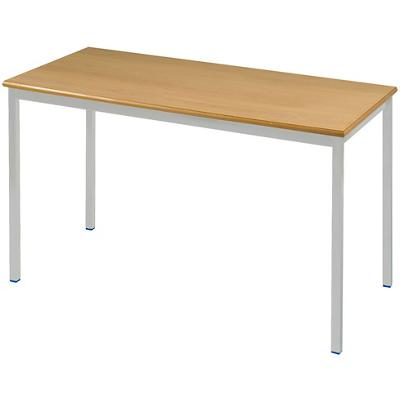 Proform Rectangular Table with Beech Coloured MFC Top and Grey Frame 1100 x 550 x 590mm 4 Pieces