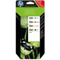 HP 940XL Original Ink Cartridge C2N93AE Black & 3 Colours 4 pieces