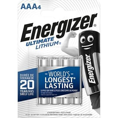 Energizer AAA Batteries CR03 Ultimate 1.5V Lithium Pack of 4