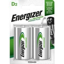 Energizer Batteries Power Plus D 2 pieces