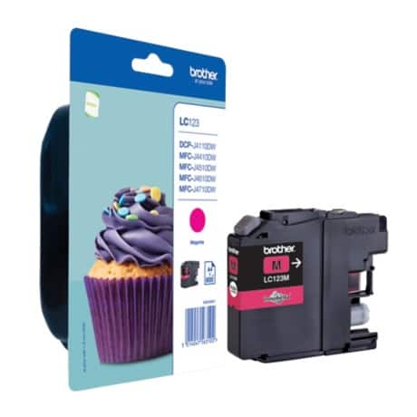 Brother LC123M Original Ink Cartridge Magenta