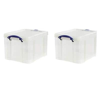Really Useful Box Storage Box 35 L Transparent Plastic 39 x 48 x 31 cm 2 Pieces