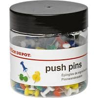 Office Depot Drawing Pins Assorted 200 Pieces