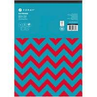 Foray Extreme A4 Top Bound Turquoise Card Cover Refill Pad Ruled 200 Pages Pack of 5