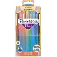 Paper Mate Felt Tip Pens Flair Assorted 16 Pieces