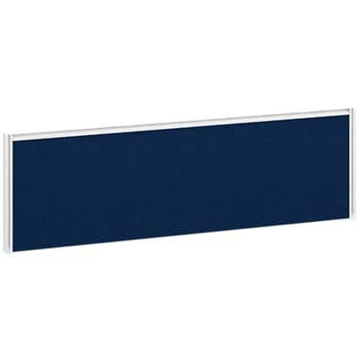 Dams International Desktop Fabric Screen Blue Aluminium White Frame 1200 x 30 x 380mm