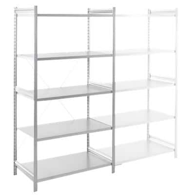 ARNO SPACE Light Modular with 5 Shelves Epsilon 1000 x 600 x 2000mm Light Grey