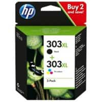 HP 303XL Original Ink Cartridge 3YN10AE Black, Tri-Colour 2 Pieces