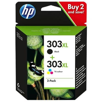 HP 303XL Original Ink Cartridge 3YN10AE Black, Tri-Colour Pack of 2