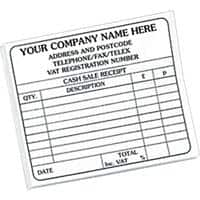 Personalised Customised Forms 14.8 x 10.2 cm Pack of 10