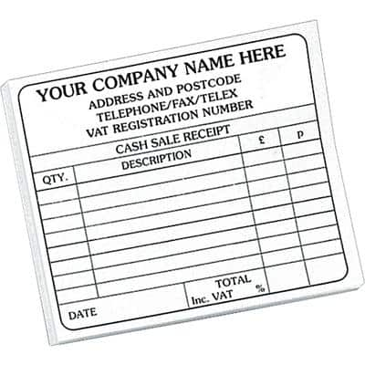 Personalised Customised Forms 14.8 x 10.2 cm 10 Pieces
