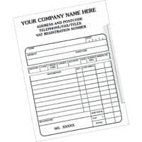 Personalised Customised Forms Receipt Pad 15.2 x 9.8 cm Pack of 10