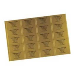 Address/Telephone Labels-Gold (65/sheet - 16 sheets/PK)