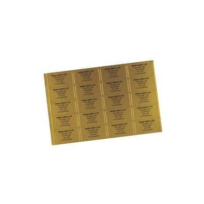 Phone Number Labels Gold 1000 Pieces