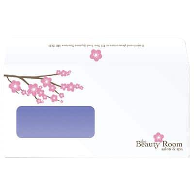 DL Self-Seal 2 Print Colour Window Envelopes-White (500/bx)
