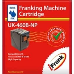 Extra Capacity compatible franking ink for the Neopost IS460 and IS480  machines - blue Ink