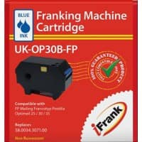 iFrank Franking Machine Ink Cartridge UK-OP30B-FP Blue Pack of 3
