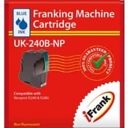 Compatible franking ink for the Neopost IS240 and IS280 machines - blue Ink