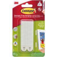 Command Mounting Strip 7.2 kg Holding Capacity White Pack of 4