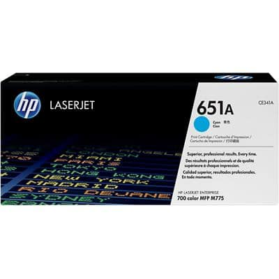 HP 651A Original Toner Cartridge CE341A Cyan