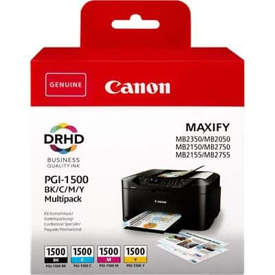 Canon PGI-1500 Original Ink Cartridge CMYK Pack of 4