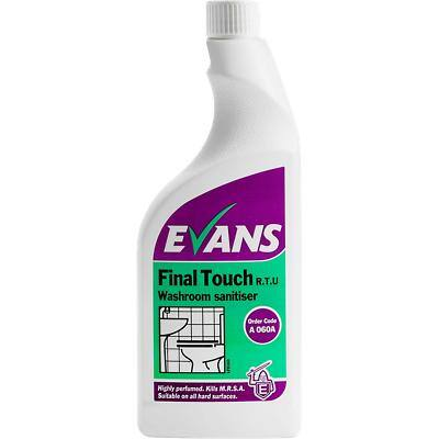 Evans Vanodine Washroom Sanitiser Final Touch RTU Floral 750 ml