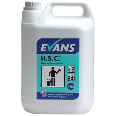 Evans Vanodine H.S.C. Hard Surface Cleaner Multi-Purpose Lemon 5L
