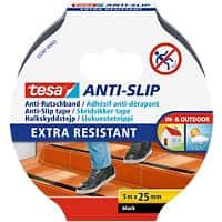 tesa Anti Slip Tape Extra Resistant 25 mm x 5 m Black