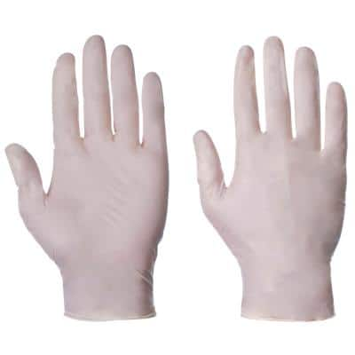 Supertouch Gloves 10502 Latex Size M Transparent 100 Pieces