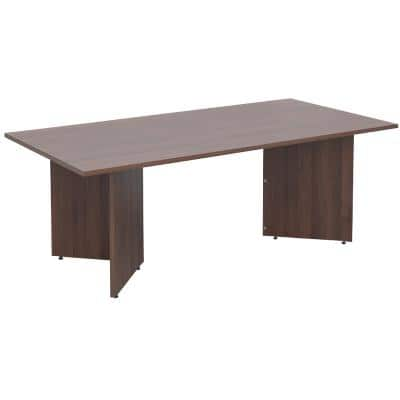 Dams International Rectangular Boardroom Table with Walnut Coloured MFC Top and Walnut Coloured Frame EB20W 2000 x 1000 x 725 mm