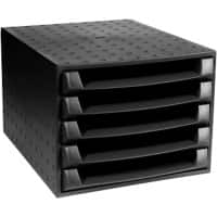 Exacompta Filing Drawers Multiform Forever Plastic Black 28.4 x 38.7 x 21.8 cm