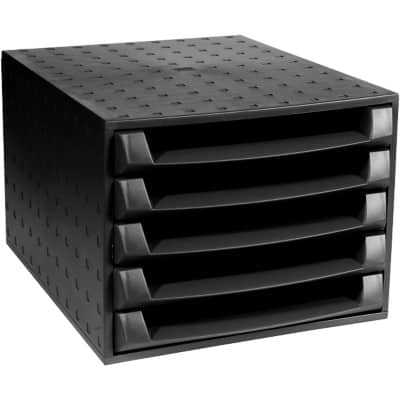 Exacompta Filing Drawers Multiform Forever Plastic Black 21.8 x 28.4 x 38.7 cm
