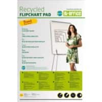 Bi-Office Plain Recycled Flipchart Pads Earth-it Perforated 98 x 65 cm 55gsm 50 Sheets Pack of 5