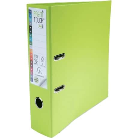 Exacompta premtouch Lever Arch File A4+ 2 ring 80 mm Lime
