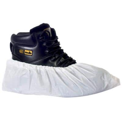 Supertouch Shoe Protecters Polythene Size White