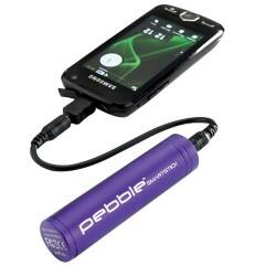 Veho VPP-002-SSM Pebble Smartstick Purple Emergency Portable 2200 Mah Battery Back Up