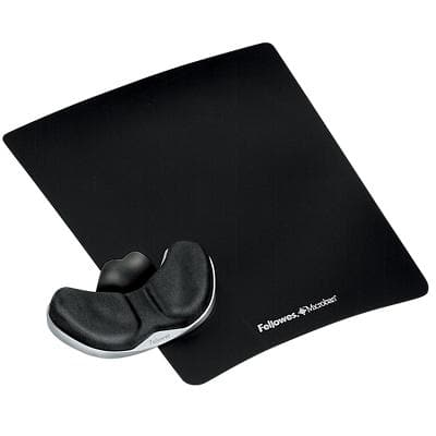 Fellowes Mouse Pad Health-V Crystal Black