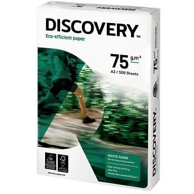 Discovery Eco-efficient Paper A3 75gsm White 500 Sheets