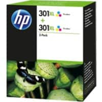 HP 301XL Original Ink Cartridge D8J46AE 3 Colours Pack of 2