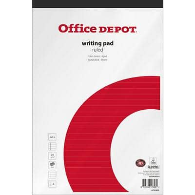 Office Depot Notepads A4+ Ruled Red 5 Pieces of 100 Sheets