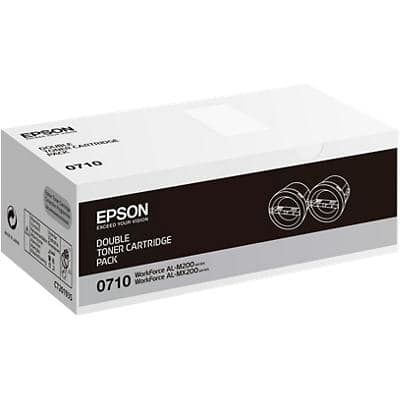 Epson 0710 Original Toner Cartridge C13S050710 Black 2 Pieces