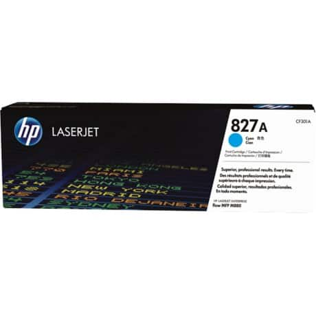HP 827A Original Cyan Toner Cartridge CF301A