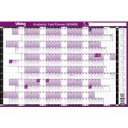 Viking Year Planner Academic Unmounted 2018, 2019 White, Purple