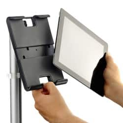 Tablet Holder Range 50 cm Black
