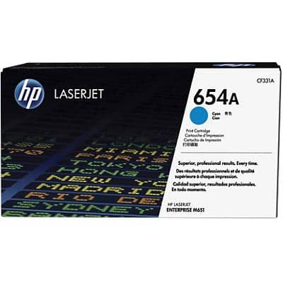 HP 654A Original Toner Cartridge CF331A Cyan