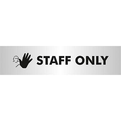 Office Sign Staff Only PVC 4.5 x 19 cm