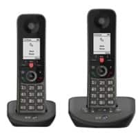 BT Advance Twin Cordless Telephone 90639 Black Twin Handset